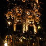 Barcelone Gaudi Casa Batllo Architecture Nuit